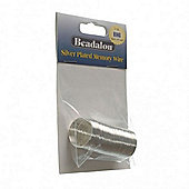 Beadalon Memory Wire Ring Silver Plate 0.5Oz