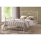 Inova Ivory Shabby Chic 4FT Small Double Metal Bed Frame