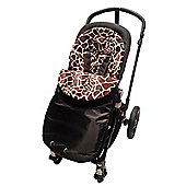 Animal Print Padded Footmuff To Fit Babystyle Max/Oyster/TS2 Giraffe