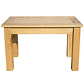 Home Zone Furniture Lincoln Solid Oak Dining Table - 120cm