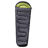 Tesco 300gsm Mummy Sleeping Bag Grey/Green