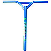 Madd Gear MGP Bat Wings Straight Scooter Handlebars - Blue with Logo