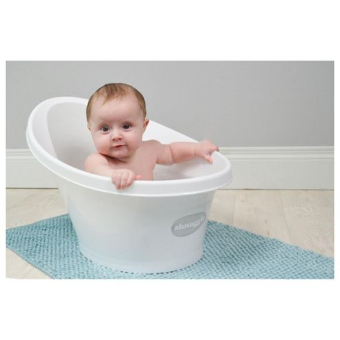 buy shnuggle baby bath white grey from our bath tubs range tesco. Black Bedroom Furniture Sets. Home Design Ideas
