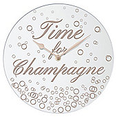 """Time for Champagne"" Wall Clock"