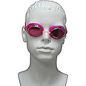 Speedo Vanquisher 2 Mirror Junior Swimming Goggles - Pink