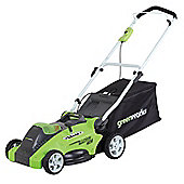 Greenworks 40v 45cm Cordless Lawnmower with battery and charger