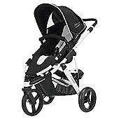 ABC Design Cobra 3 Wheel Pram & Pushchair, White/Black