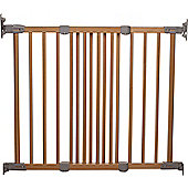 BabyDan Flexi Fit Wooden Safety Gate Beech & Silver 72.1cm - 110.9