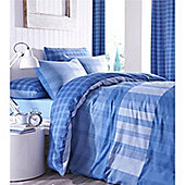 Catherine Lansfield Home Edition Casual Living 66x72 Cotton Rich Curtains Fully Lined Curtains - Blue