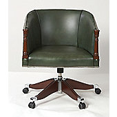 Curzon Gallery Collection Poker Mid-Back Chair with Foam Interior - Green