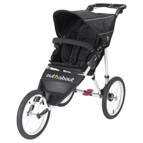 Out n About Nipper 3 Wheel Sport Pushchair, Raven Black