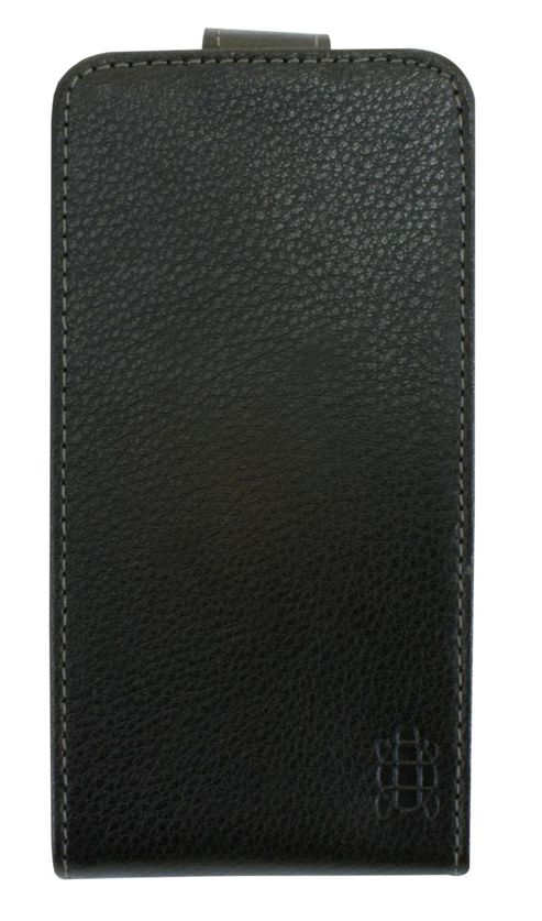 Tortoise™ Genuine Leather Flip Case Blackberry Z10 Black