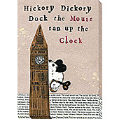 Nursery Rhymes Canvas - Hickory Dickory