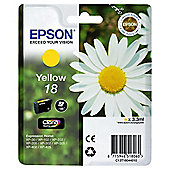 Epson Singlepack Yellow 18 Claria Home Ink