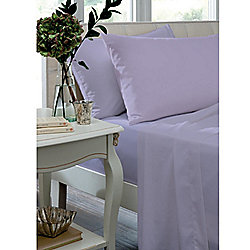 Catherine Lansfield Lilac Fitted Sheet - Single