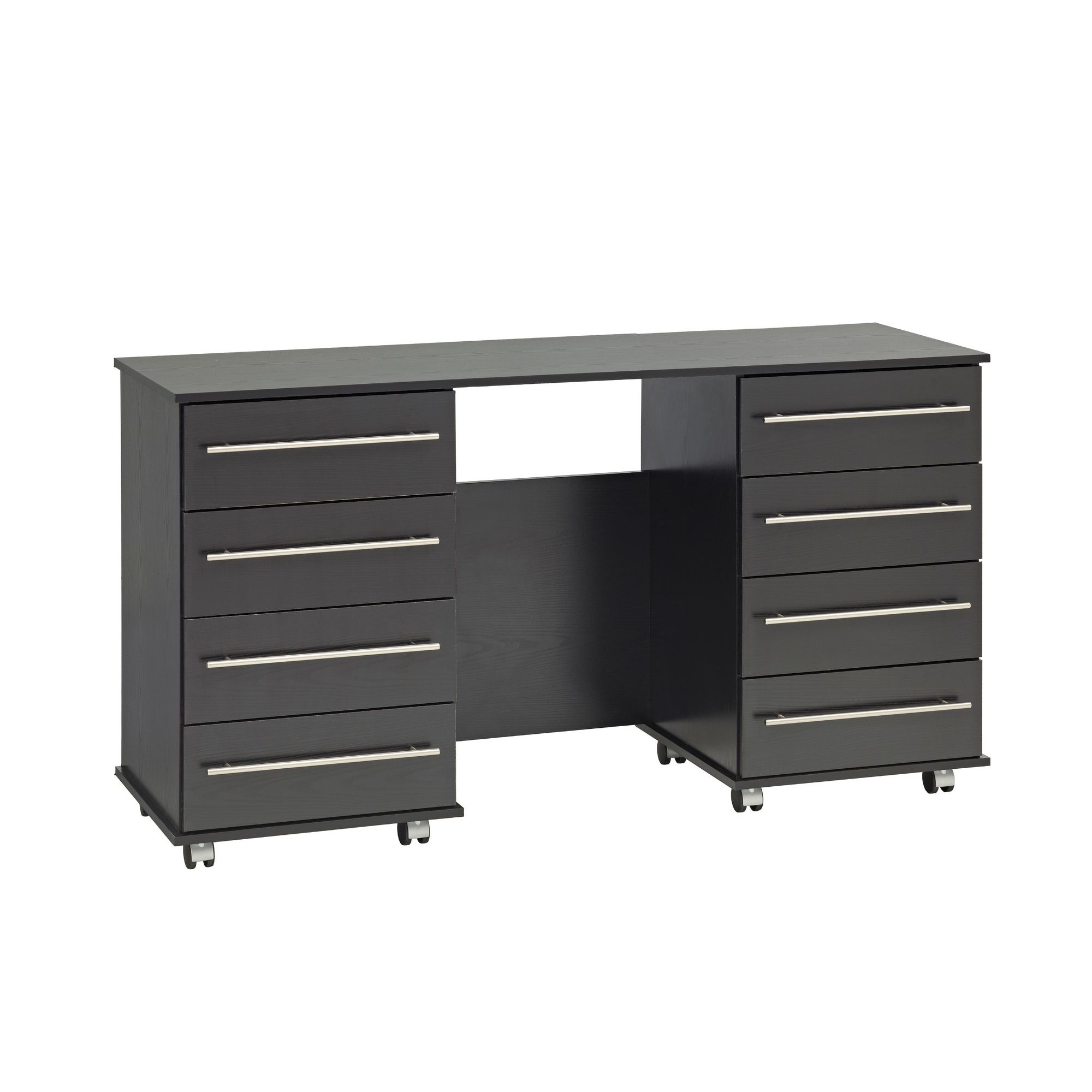 Ideal Furniture Bobby Double Dressing Table - Black at Tesco Direct