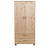 Thuka Trendy 2 Door 2 Drawer Wardrobe - Black - Natural Lacquer