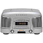 TEAC SLD930 CD/FM/AM Retro Hifi System with Bluetooth (Silver)