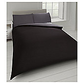 Tesco Basics Reversible Duvet Set  and Sand, - Black
