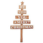 Wooden Slat 'We Wish You a Merry Christmas' Sign