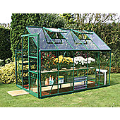Europa Manor Marquess Greenhouse – 6 x 10 - Green Finish – Horticultural Glass