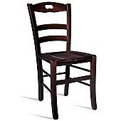 Home Etc Jonah Beech Side Chair - Dark Oak