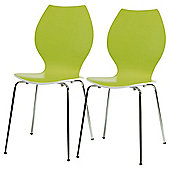 Candy Chairs Pair Lime Green