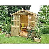 6ft x 6ft Charlbury Summerhouse - 6 x 6 Assembled Garden Wooden Summerhouse 6x6