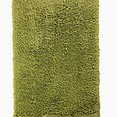 Think Rugs Monte Carlo Green Shaggy Rug - 60 cm x 115 cm (2 ft x 3 ft 9 in)