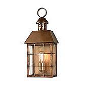 Elstead Lighting Hyde Park 1 Light Outdoor Wall Lantern - Solid Brass