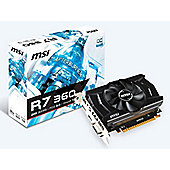 MSI Radeon R7 360 2GB Graphics Video Card Sleeva Fan Design 2GB GDDR5 Memory DirectX 12 Support R7 360 2GD5 OC