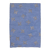 Lorena Canals AlasWings Blue and Silver Children's Rug - 140 cm W x 200 cm D (4 ft 9 in x 6 ft 6.5 in)