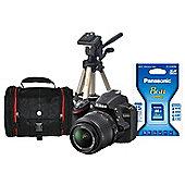 Nikon D3200 Black SLR Camera Kit inc 18-55mm VR Lens,8Gb SD,Case & Desktop Tripod