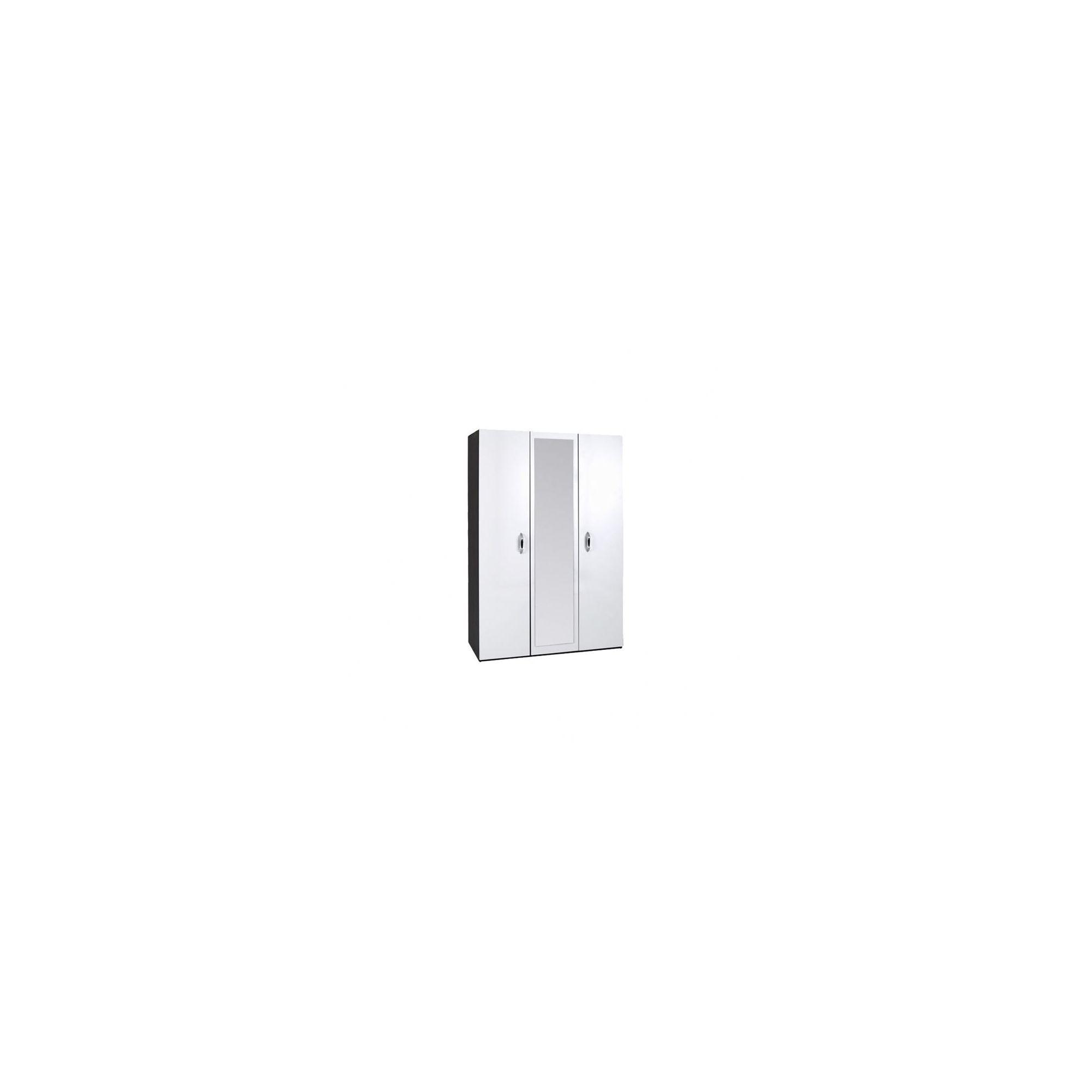 Alto Furniture Mode Piano Three Door Wardrobe in White at Tesco Direct
