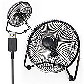 "Twitfish USB Desk Fan 8"" - Black"
