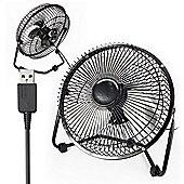"""Twitfish USB Desk Fan 8"""" - Black"""
