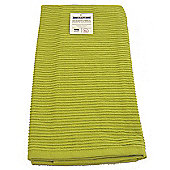 Now Designs Single Ripple Kitchen Tea Towel, Cactus Green