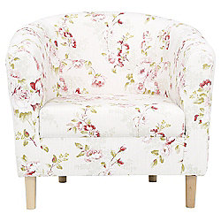 Tub Chair Fabric Pattern / Floral Pink
