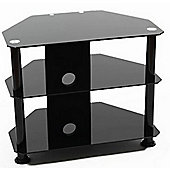 ValuFurniture BB600 Universal Black TV Stand for up to 32 inch TVs
