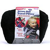 Clippasafe Secure-Belt Travel Pillow for Cars - Black (8 Yrs+)