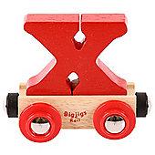 Bigjigs Rail Rail Name Letter X (Red)