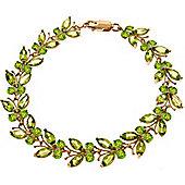 QP Jewellers 6in 16.50ct Peridot Butterfly Bracelet in 14K Rose Gold