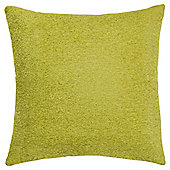 Plain Chenille Cushion, Lime