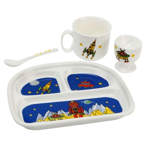 Robert the Robot 4 piece Ceramic Breakfast Set