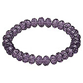 Purple Glass Bead Stretch Bracelet