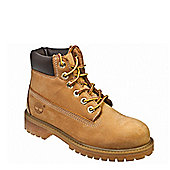 Timberland Premium 6 Inch Junior Kids Wheat BrownLeather Ankle Boots - 12.5