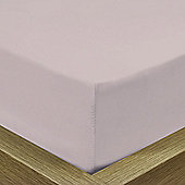Julian Charles Percale Heather Luxury 180 Thread Count Fitted Sheet - Single
