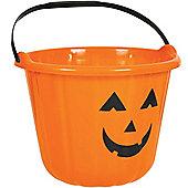 Halloween Bags & Bowls Orange Pumpkin Bucket