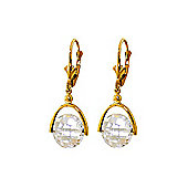 QP Jewellers 7.50ct White Topaz Sparkler Drop Earrings in 14K Gold
