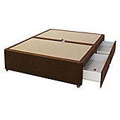 Sweet Dreams Amber Double Spring Edge, 4 Drawer Divan - Dali Plain Brown